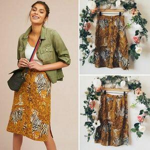 Anthropologie Maeve Jungle Pencil Skirt NWOT